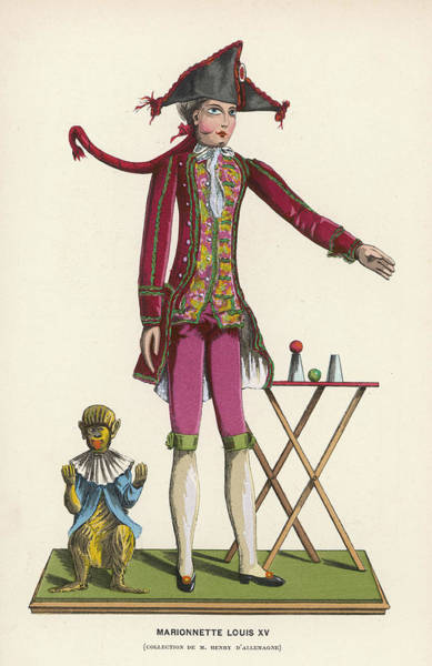 Wall Art - Drawing - A Marionette Of The  Period Of Louis Xv by Mary Evans Picture Library