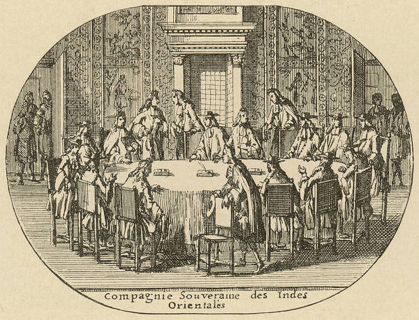 Wall Art - Drawing - A Meeting Of The Dutch East  India by Mary Evans Picture Library