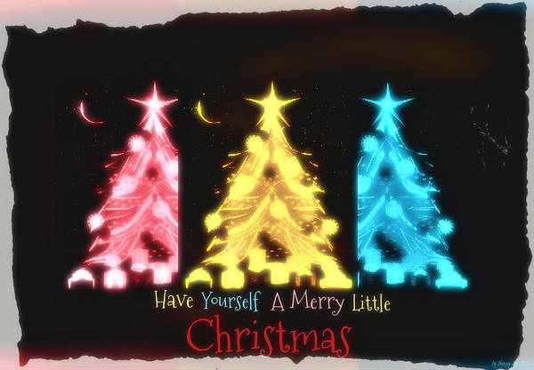 Digital Art - A Merry Little Christmas by Sherry Flaker