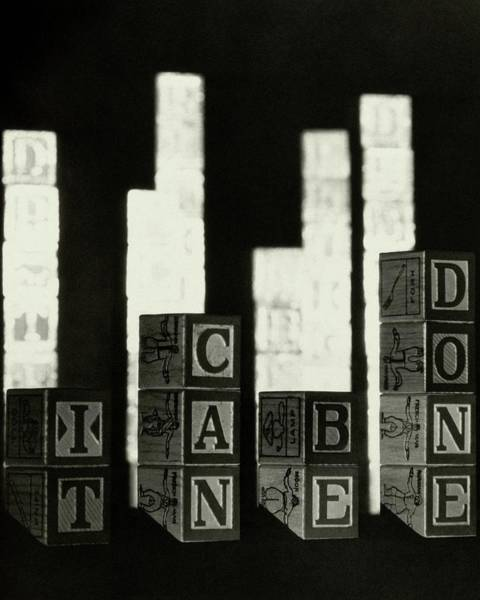 Photograph - A Message In Wooden Blocks by Irving Browning