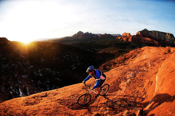 Wall Art - Photograph - A Middle Age Man Rides His Mountain by Kyle George