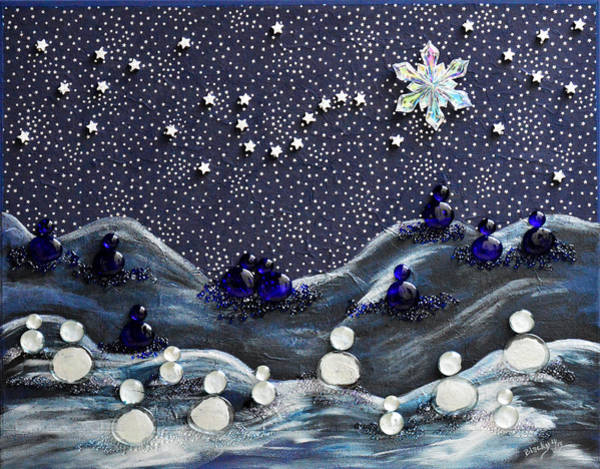 Wall Art - Mixed Media - A Midnight Clear by Donna Blackhall
