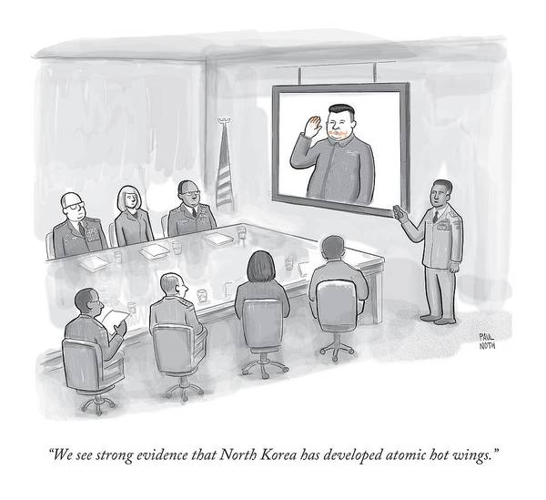 Hot Drawing - A Military Briefing by Paul Noth