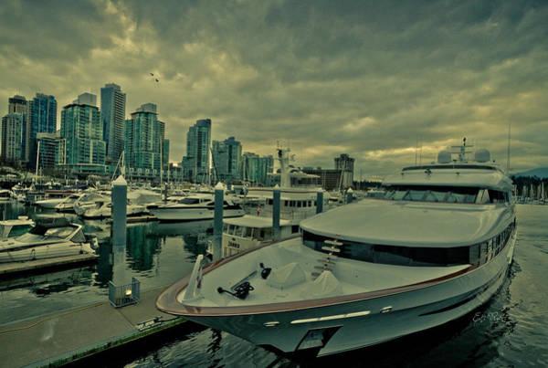 Vancouver City Digital Art - A Million Dollar Ride Yacht  by Eti Reid