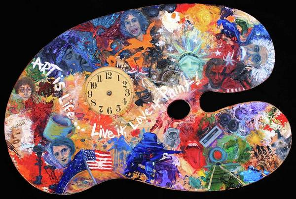 Clock Face Painting - A Minds Eye Palette by Trish Bilich