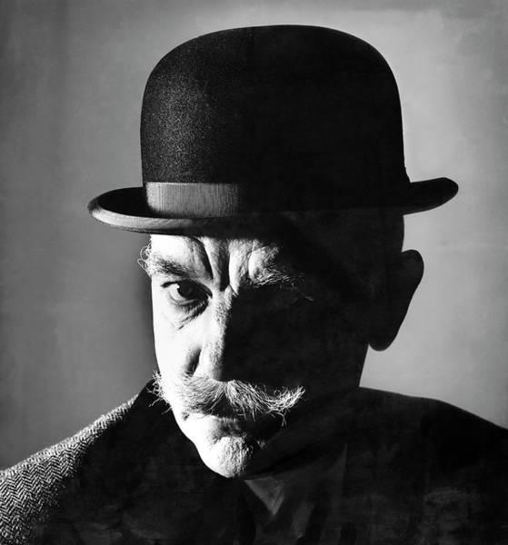 Wall Art - Photograph - A Model In A Bowler Hat By Churchill by Carl Fischer