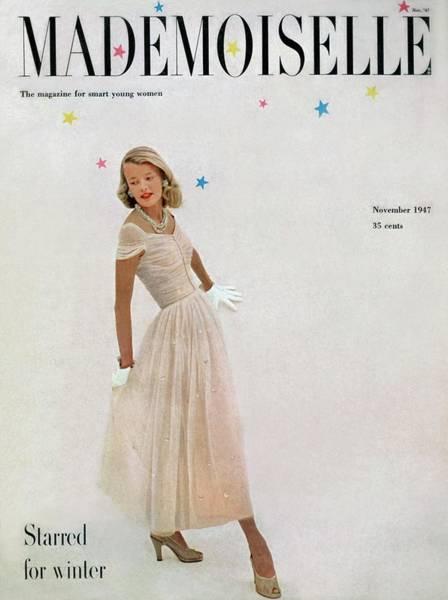 Photograph - A Model In A Filcol Net Dress by Mark Shaw
