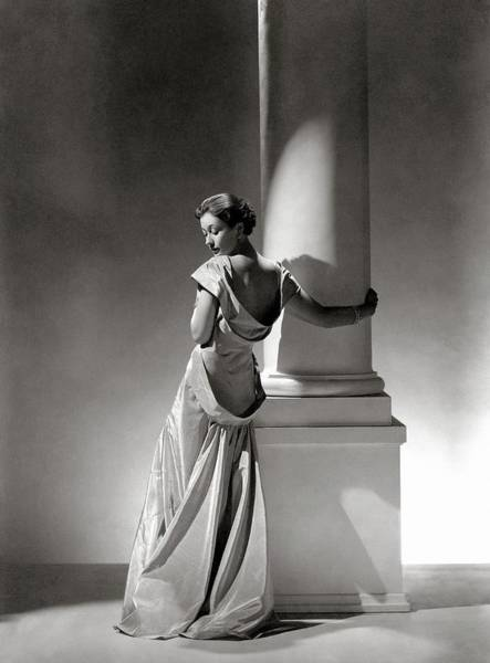 Photograph - A Model In A Gown By Vionnet And Jewelry by George Hoyningen-Huene