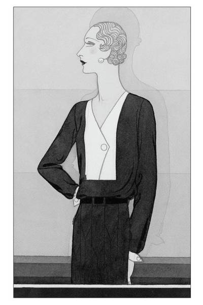 In Vogue Digital Art - A Model In A Schiaparelli Suit by Douglas Pollard