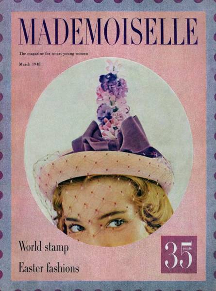 Mademoiselle Photograph - A Model In An Easter Bonnet by Mark Shaw