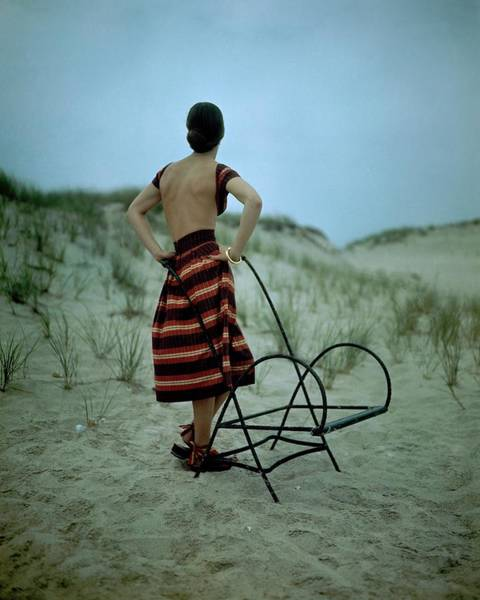 Outdoor Photograph - A Model On A Beach by Serge Balkin