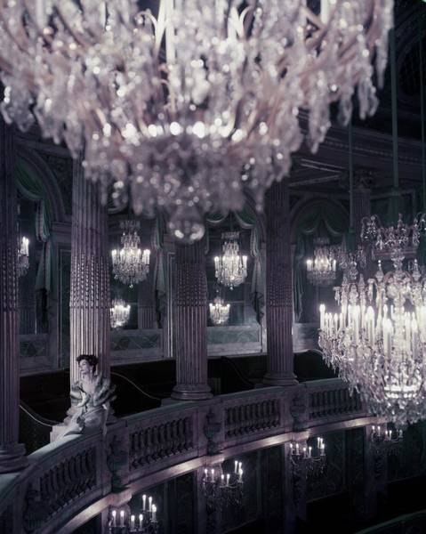 Architecture Photograph - A Model On The Balcony Of The Theatre by Henry Clarke