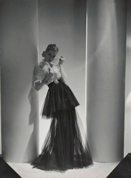 Photograph - A Model Wearing A 1930s Style Evening Gown by Horst P. Horst