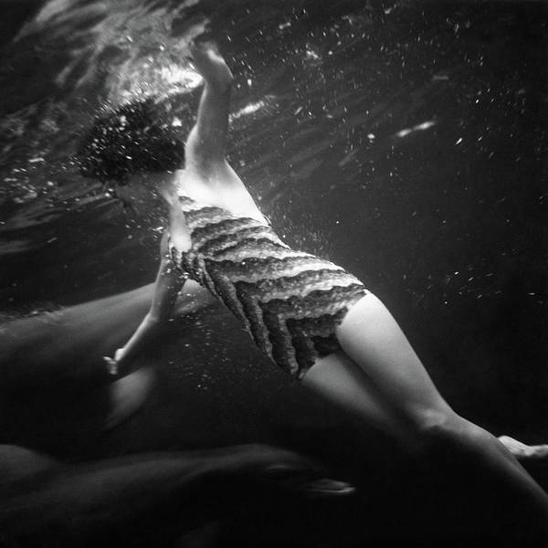 Wildlife Photograph - A Model Wearing A Best Bathing Suit by Toni Frissell