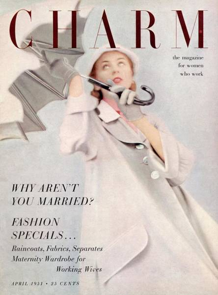 1951 Photograph - A Model Wearing A Duster Coat By Duchess Royal by Milton Greene