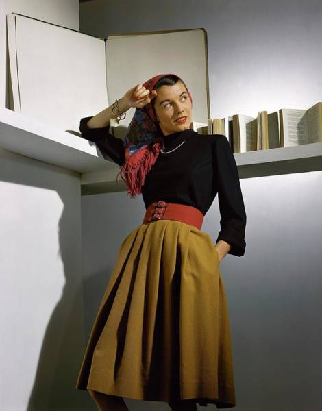 Polo Photograph - A Model Wearing A Sweater by Horst P. Horst