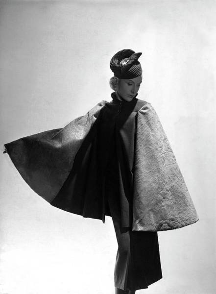 Buffalo Photograph - A Model Wearing Alix by Horst P. Horst