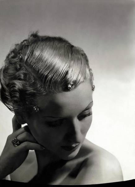 1934 Photograph - A Model Wearing Cartier Diamonds by Horst P. Horst