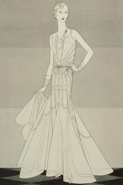 A Model Wearing Chanel Art Print by Douglas Pollard