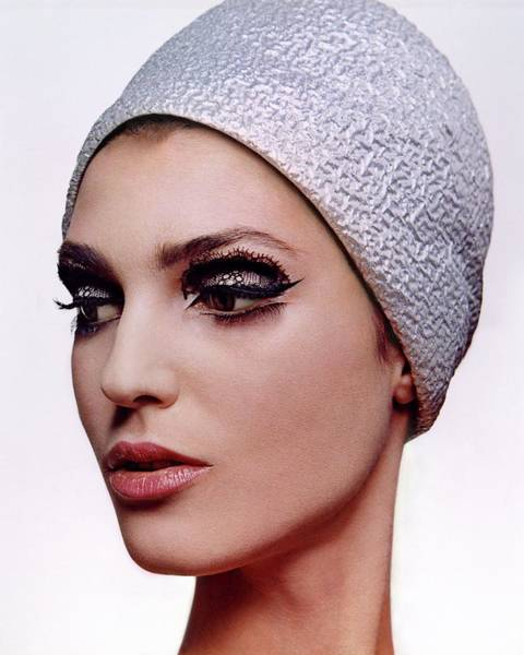 Eyeliner Wall Art - Photograph - A Model Wearing Dark Eye Make-up by Bert Stern