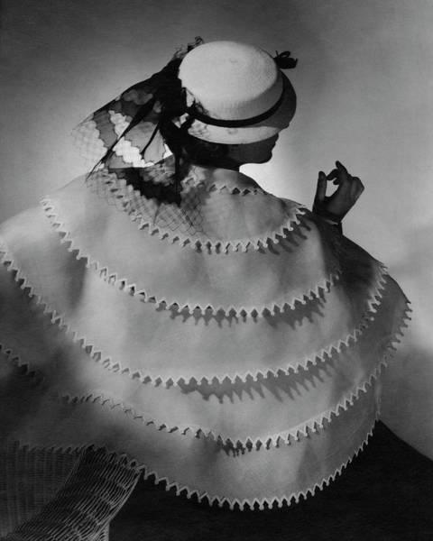 Lanvin Photograph - A Model Wearing Lanvin by Horst P. Horst
