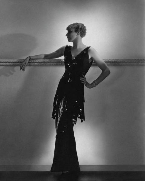 Photograph - A Model Wearing Schiaparelli by Horst P. Horst