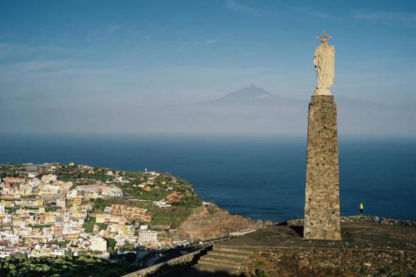 La Gomera Wall Art - Photograph - A Monument Overlooks The Town Of San by Sergio Villalba