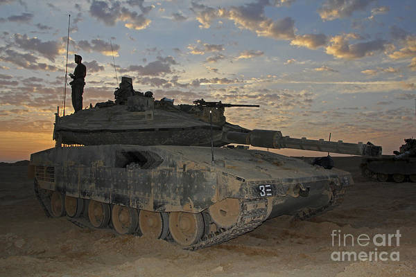 Mark Iv Wall Art - Photograph - A Morning Prayer On An Israel Defense by Ofer Zidon