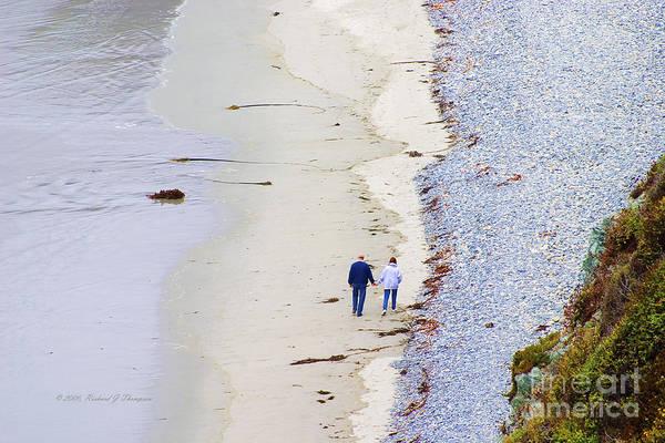 Photograph - A Morning Walk Along The Beach  by Richard J Thompson