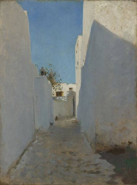 North Africa Wall Art - Painting - A Moroccan Street Scene, 1879-1880 by John Singer Sargent