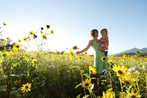 Flagstaff Photograph - A Mother And Her Young Daughter Explore by Kyle George