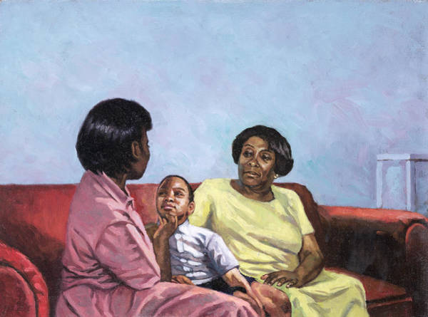 Motherhood Painting - A Mothers Strength by Colin Bootman