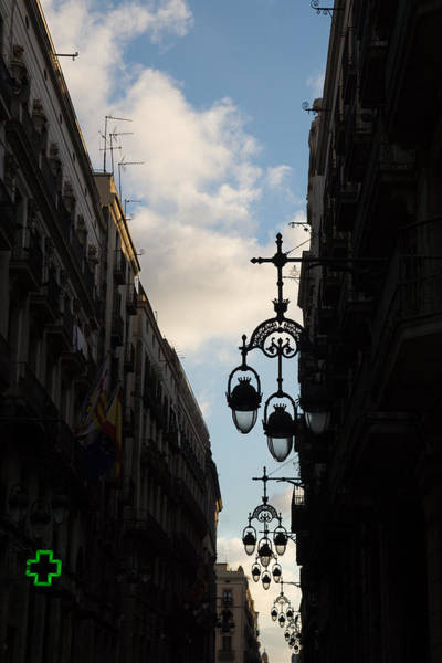 Photograph - A Necklace Of Barcelona Streetlamps by Georgia Mizuleva
