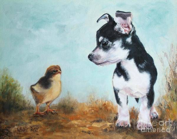 Painting - A New Acquaintance by Wendy Ray