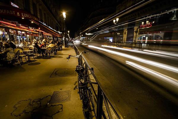 Photograph - A Night Street Scene In Paris by Sven Brogren