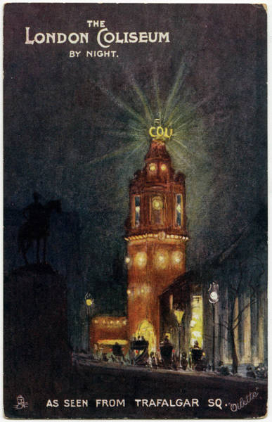 Night Time Drawing - A Night Time Exterior View Of  This by Mary Evans Picture Library