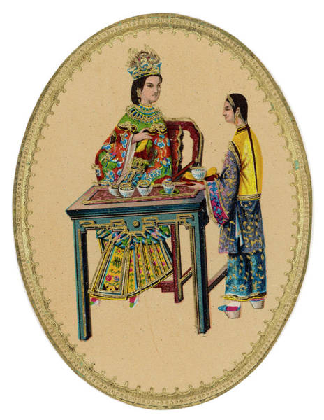 Wall Art - Drawing - A Nobly-born Chinese Lady  Prepares by Mary Evans Picture Library