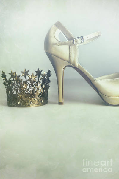 Photograph - A Pair Of High Heel Shoes With A Crown by Sandra Cunningham