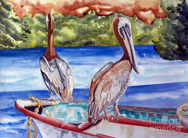 A Pair Of Pelicans Art Print