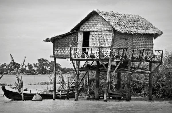Photograph - A Palafito In The Irrawaddy River by RicardMN Photography