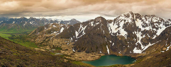 A Panoramic View Of Skip Lake Art Print