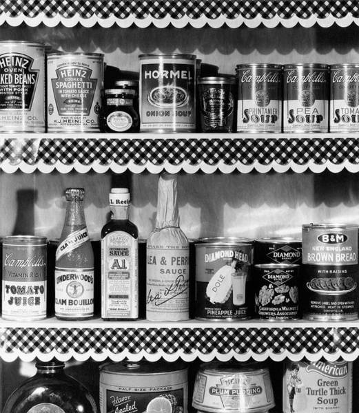 1934 Photograph - A Pantry Filled With Food by Peter Nyholm