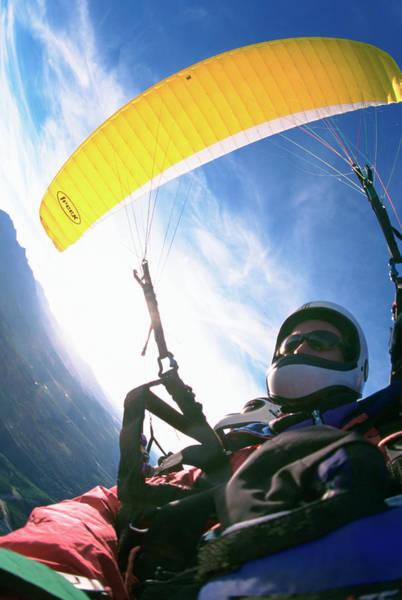 Wall Art - Photograph - A Paraglider Flight Over The San Juan by Randy Barnes