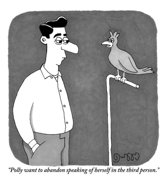 September 5th Drawing - A Parrot Talks To Its Owner by J.C.  Duffy