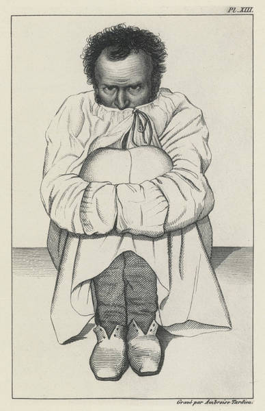 Wall Art - Drawing - A Patient In A Strait-jacket by Mary Evans Picture Library