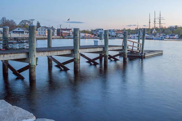 A Peaceful Dock -  Mystic Ct Art Print