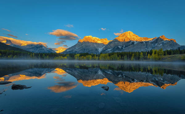 Mountain Range Photograph - A Perfect Morning In Canadian Rockies by Michael Zheng