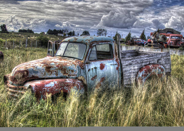 Wrecking Yard Photograph - A Pickup From The Past by Danny Pickens