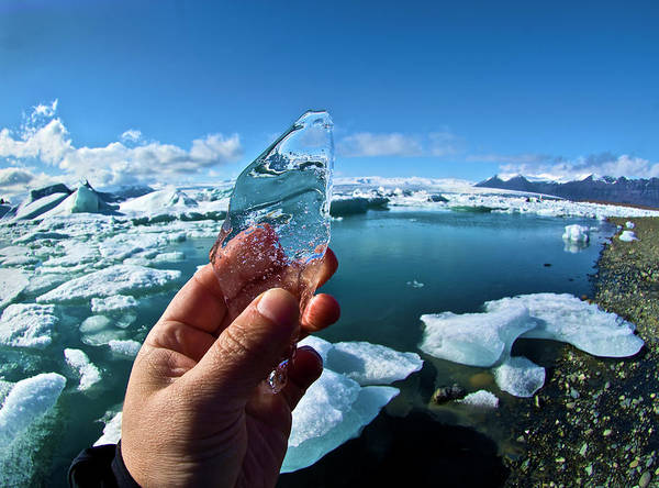 Body Parts Photograph - A Piece Of An Iceberg by Marc Pagani