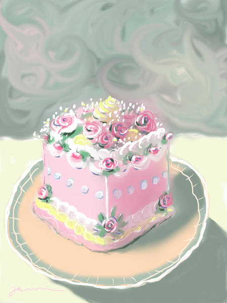 Painting - A Piece Of Cake by Jean Pacheco Ravinski